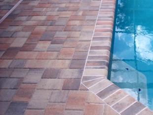 brick paver pool deck installation