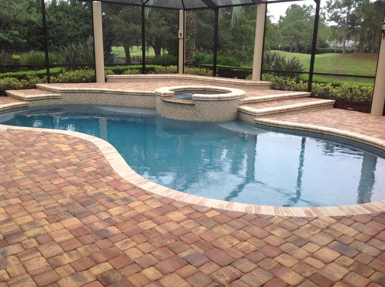 Brick Paver Pool Deck Installation
